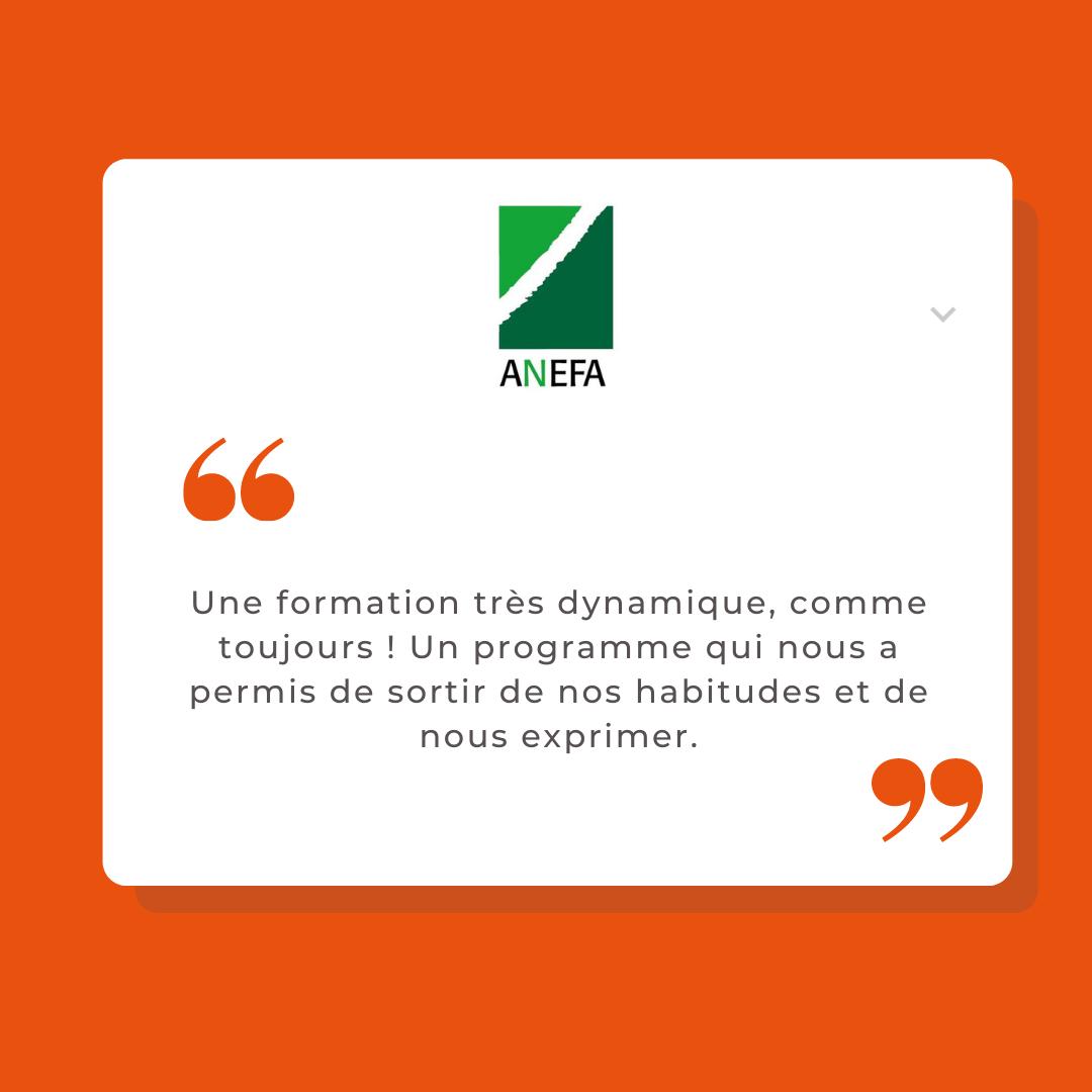 Avis ANEFA formation media training differencie